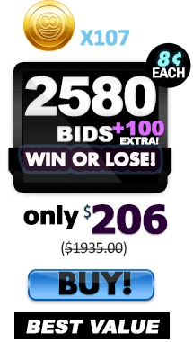 2580 150 Risk Free Bids - 8¢ each + 107 Tokens!